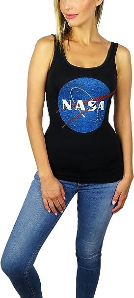 NASA Distressed Logo Black Adult Tank Top