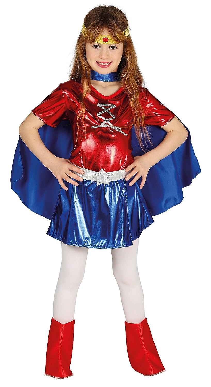 Guirca- Disfraz súperheroína, Talla 7-9 años (87468.0): Amazon.es ...