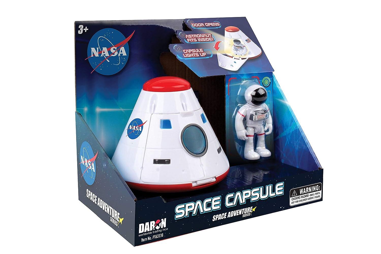 Daron NASA Space Adventure Series Space Capsule with Lights /& Figurine