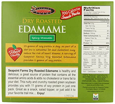 Amazon Seapoint Farms Wasabi Dry Roasted Edamame Healthy 100