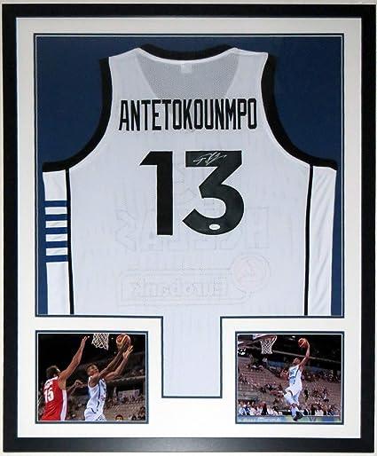 new arrival 1daee 3a607 Giannis Antetokounmpo Signed Greek Hellas Jersey - JSA COA ...