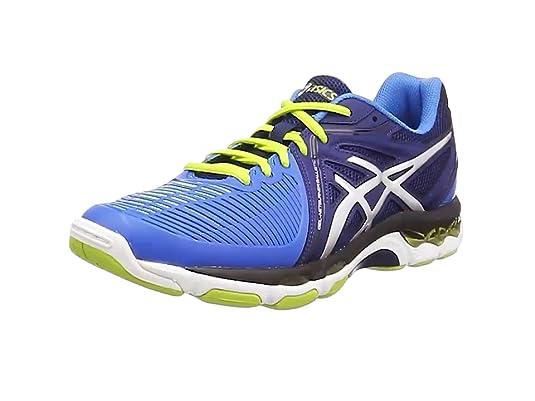 Chaussures Asics Gel Netburner Ballistic bleu/vert/blanc