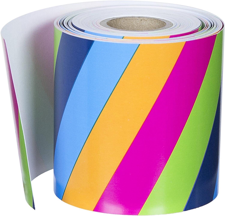 Carson Dellosa rot gewelltem Grenzen 36 Foot Colorful Stripes