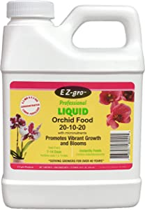Orchid Fertilizer by E-Z-GRO for Your Orchid Plant | E Z-GRO 20-10-20 Orchid Food has an Enhanced Micro-Nutrient Package for Your Orchid Plants 16 oz