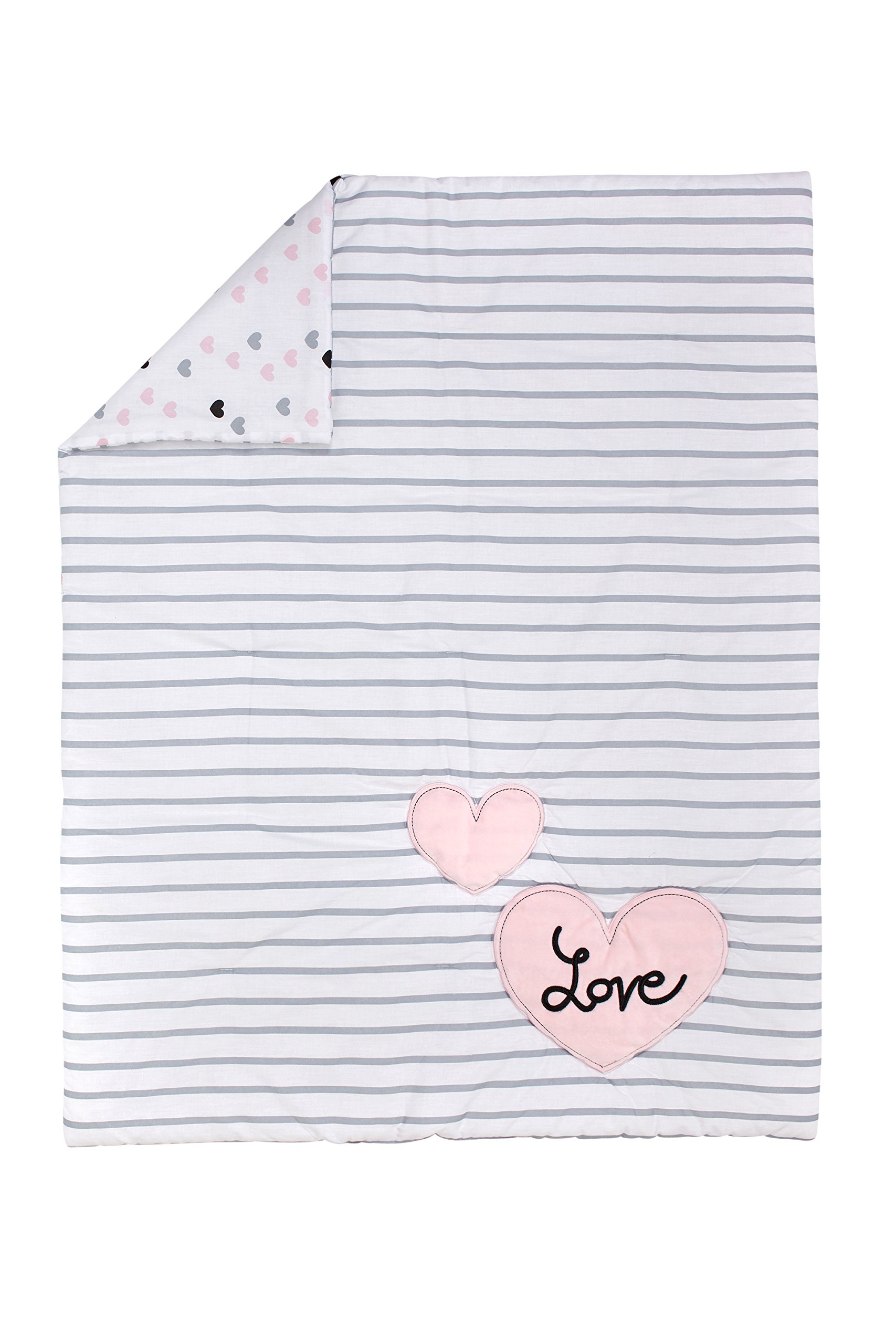 Little Love by NoJo 5 Piece Comforter Set, Hugs and Kisses by NoJo (Image #2)