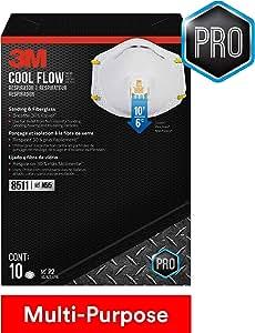 3M Valved Respirator, 8511HB1-C, Sanding & Fiberglass, 10 Pack