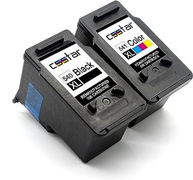 CSSTAR Remanufacturado Cartuchos Tinta Reemplazo para Canon PG 540 ...