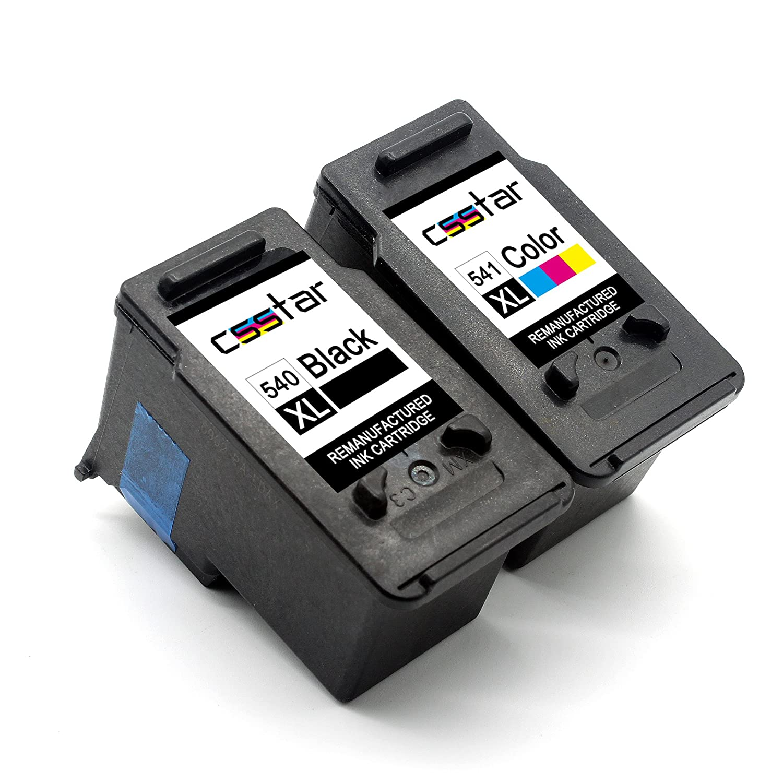 CSSTAR Remanufacturado Cartuchos Tinta Reemplazo para Canon PG 540 / CL 541 XL para Pixma MX475 MG4250 MG3550 MG3150 MX535 MG3250 MX375 MX395 MG2150 ...