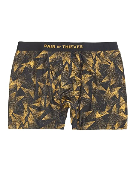 PAIR OF THIEVES Super Cluster Boxer Briefs, Black Gold, Large