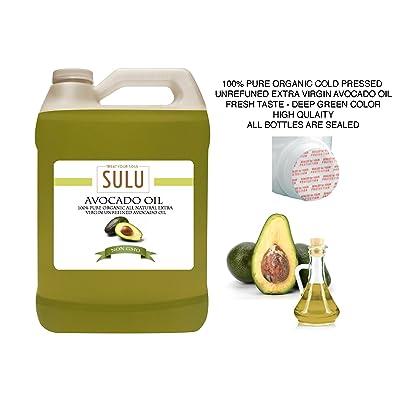4 LBS(64 OZ) 100% Pure Organic Cold Pressed Unrefined Extra Virgin Raw Avocado Oil All Natural