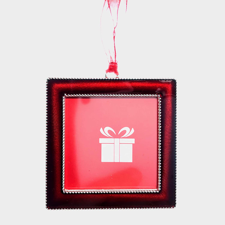 Studio Décor Red Square Photo Frame Ornament