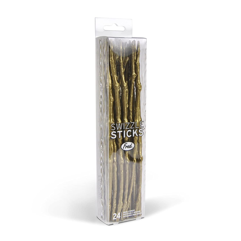Fred SWIZZLE STICKS Twig Drink Stirrers Set of 24 Fred /& Friends 5201325