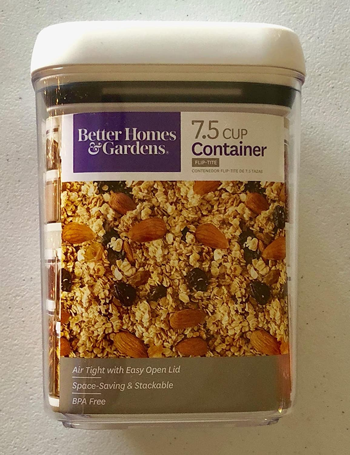 Better Homes and Gardens Flip-Tite 7.5 Cup Square Container (1)