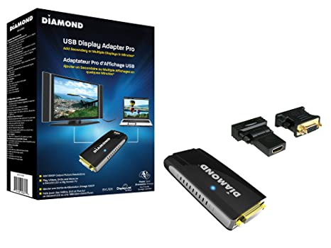 Diamond Multimedia BVU195 USB 2 0 to VGA/DVI/HDMI Video Graphics Adapter up  to 2048x1152 / 1920x1080 - Windows 10, 8 1, 8, 7, XP, MAC OS and Android