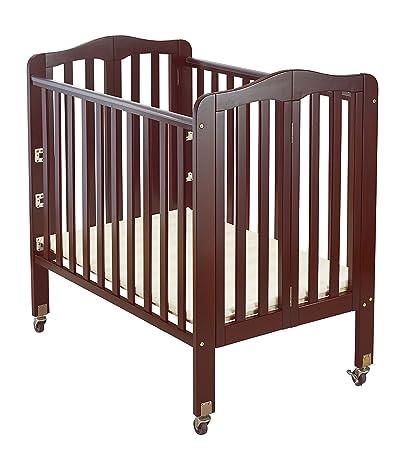 Big Oshi Angela 3 Position Portable Adjustable Crib Foldable U0026 Space Saving  Baby Crib   Cherry