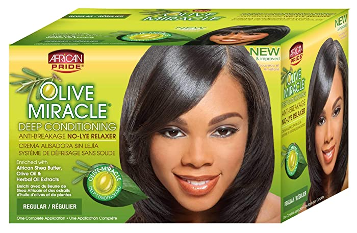 African Pride - African Pride Olive Miracle Conditioning Anti-Breakage No Lye Relaxer Regular CASE OF 12