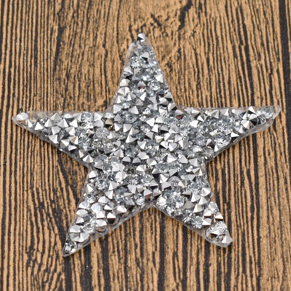 Kesheng Parche Estrella Termoadhesivo con Diamantes de Imitaci/ón para Ropa y Bolso