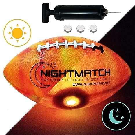 NIGHTMATCH - Balón de fútbol con luz - edición mármol - incluye ...