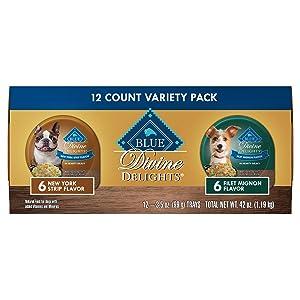 Blue Buffalo Blue Delights Filet Mignon in Gravy/Ny Strip in Gravy Variety Pack Dog Food