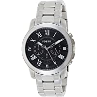 Fossil Mens Quartz Watch, Chronograph Display and Stainless Steel Strap FS4736
