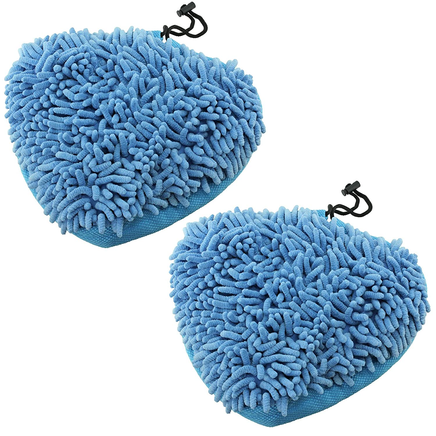 SPARES2GO Coral Microfibre Cloth Cover Pads for Efbe Schott & Delta HST78Y Steam Cleaner Mop (Pack of 2)
