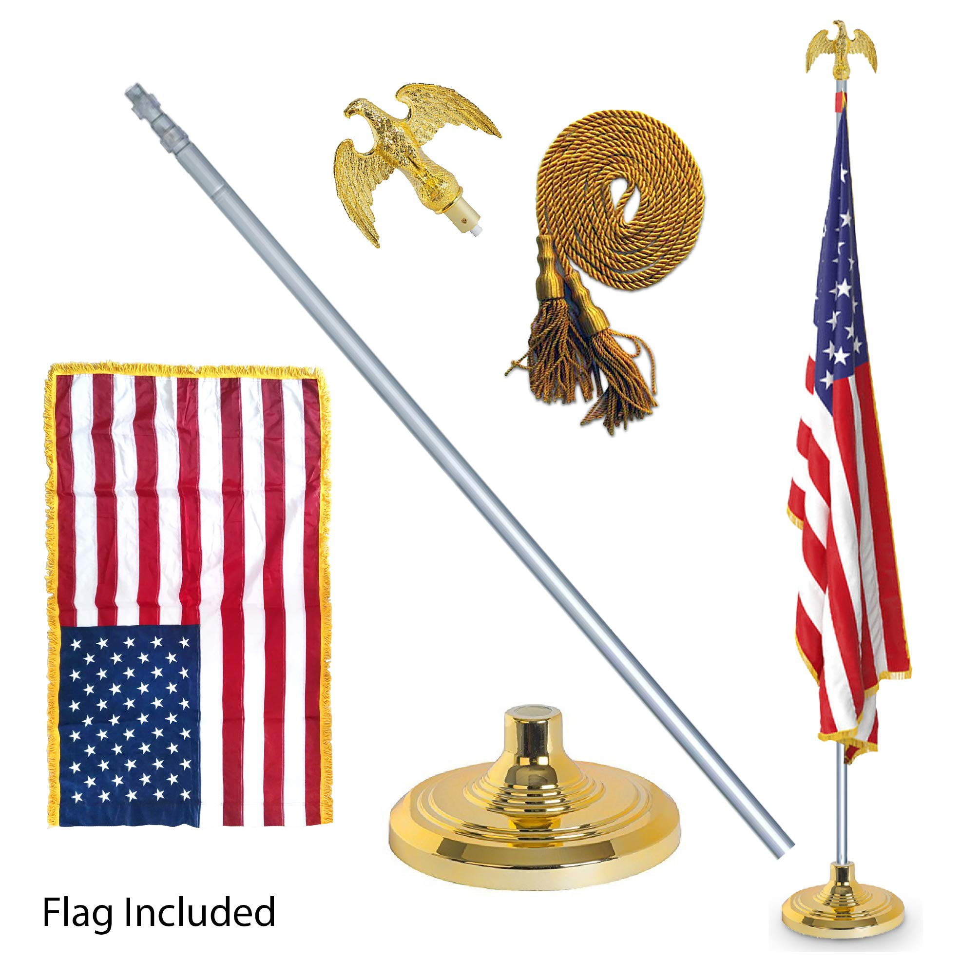 EasyGoProducts EGP-POLE-006 3' X 5' American w/Indoor Pole Kit-with Flag by EasyGoProducts (Image #1)