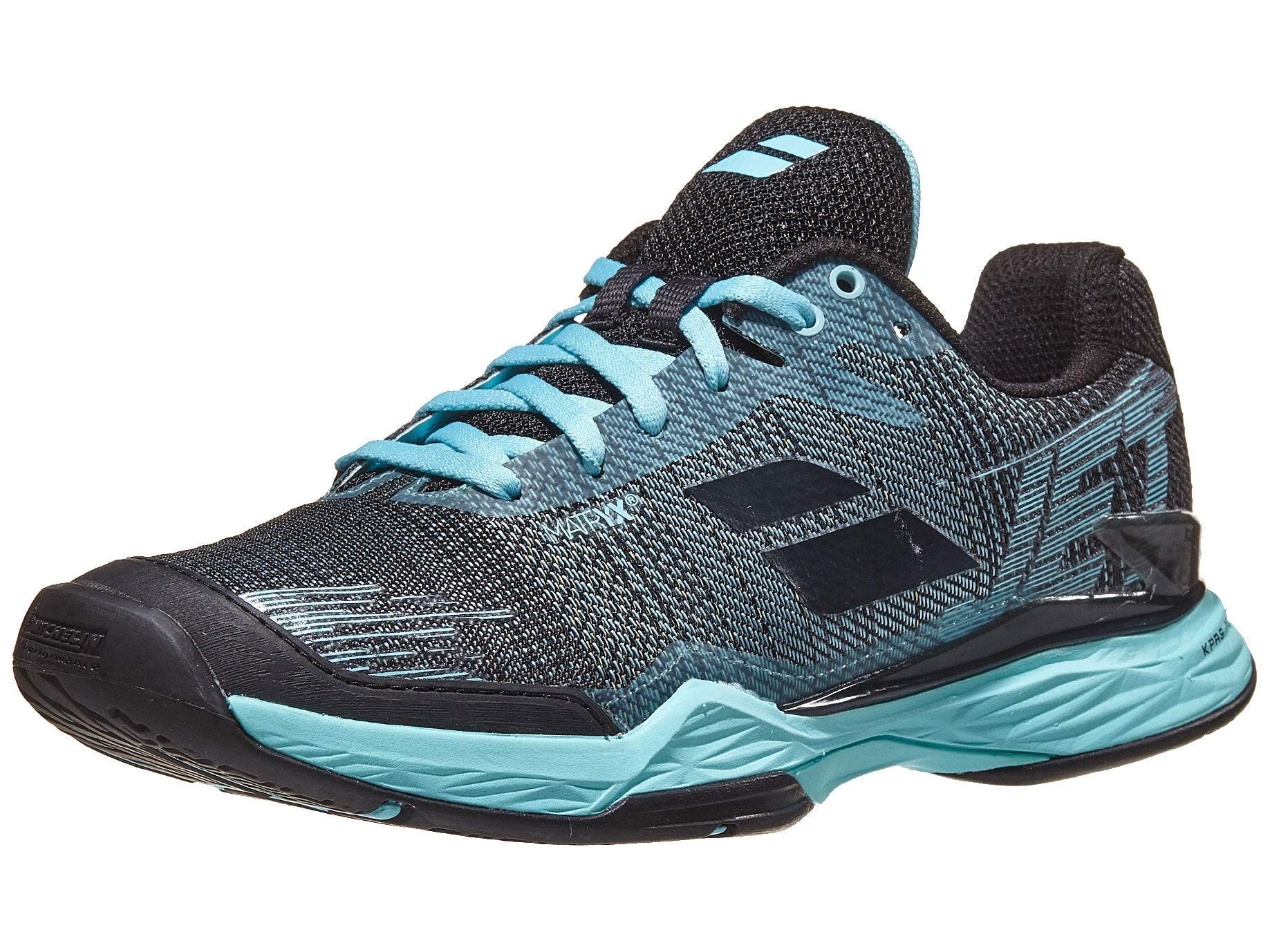 Babolat Women's Jet Mach II All Court Tennis Shoes, Angel Blue/Black (Size 8 US) by Babolat