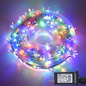 164FT 500 LED Indoor/Outdoor Fairy String Lights Plug in, Waterproof Christmas Lights with 8 Lighting Modes for Bedroom, Wedding, Party, Garden, Christmas Tree Decoration (Multicolor)
