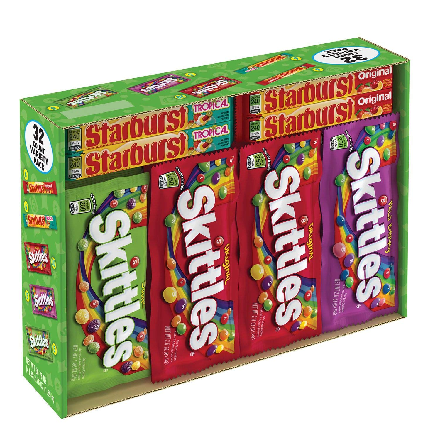 Skittles & Starburst Variety Box 4.17 lbs, 32 ct. A1 by Store - 383