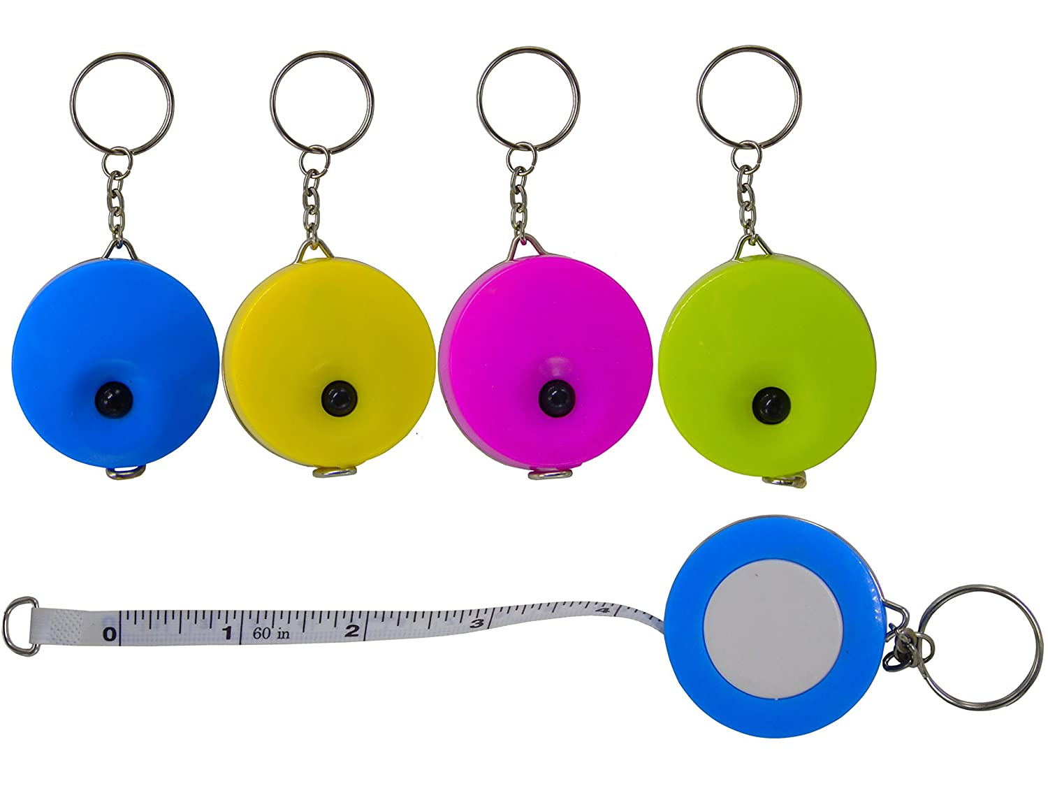 Lontenrea 5 Pack 60-Inch Soft and Retractable Tape Measure With Keychain for Tailor Sewing Body Measure Tape Lontenrea01