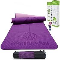 biomundus Esterilla Yoga Mat Antideslizante TPE Grado A Máxima Concentración, Esterilla Deporte en Casa, Colchoneta…