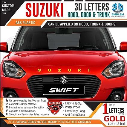 Carmetics Suzuki 3d Letters For Maruti Suzuki Vitara Brezza Gold