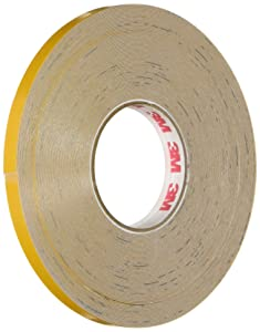3M Scotchlite Reflective Striping Tape, Yellow, .25-Inch by 50-Foot