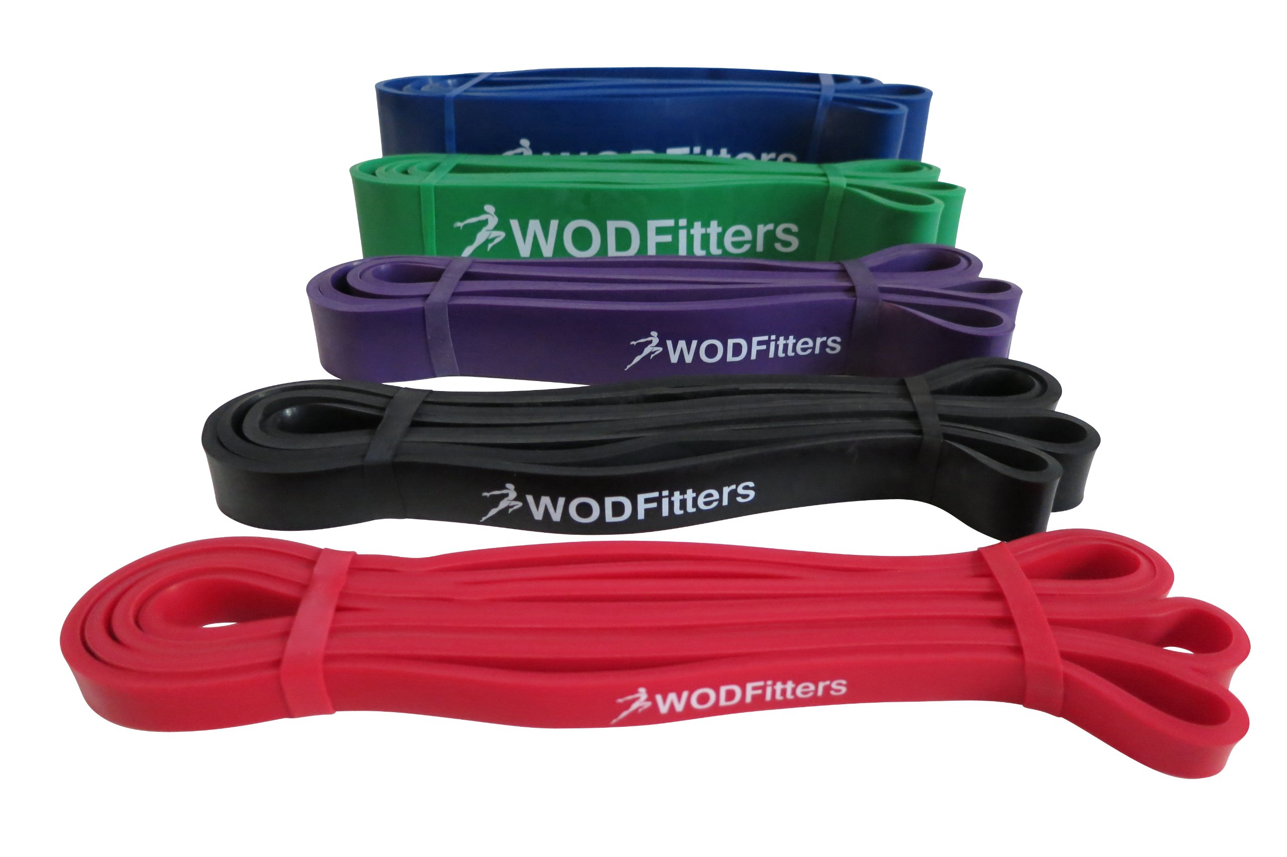 WODFitters Stretch Resistance Pull Up Assist Band with eGuide, 5 Blue - 65 to 175 Pounds (2.5'' 4.5mm) by WODFitters (Image #1)