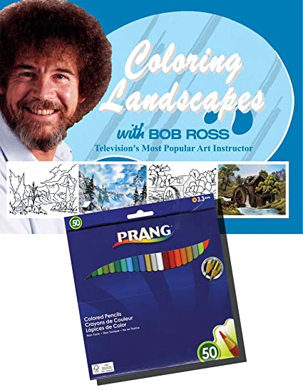 Amazon Com New Coloring Landscapes With Bob Ross Coloring Book