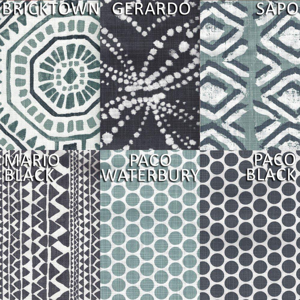 Close to Custom Linens Gathered Bedskirt Paco Waterbury Polka Dot Spa Green Slub Cotton 18'' King