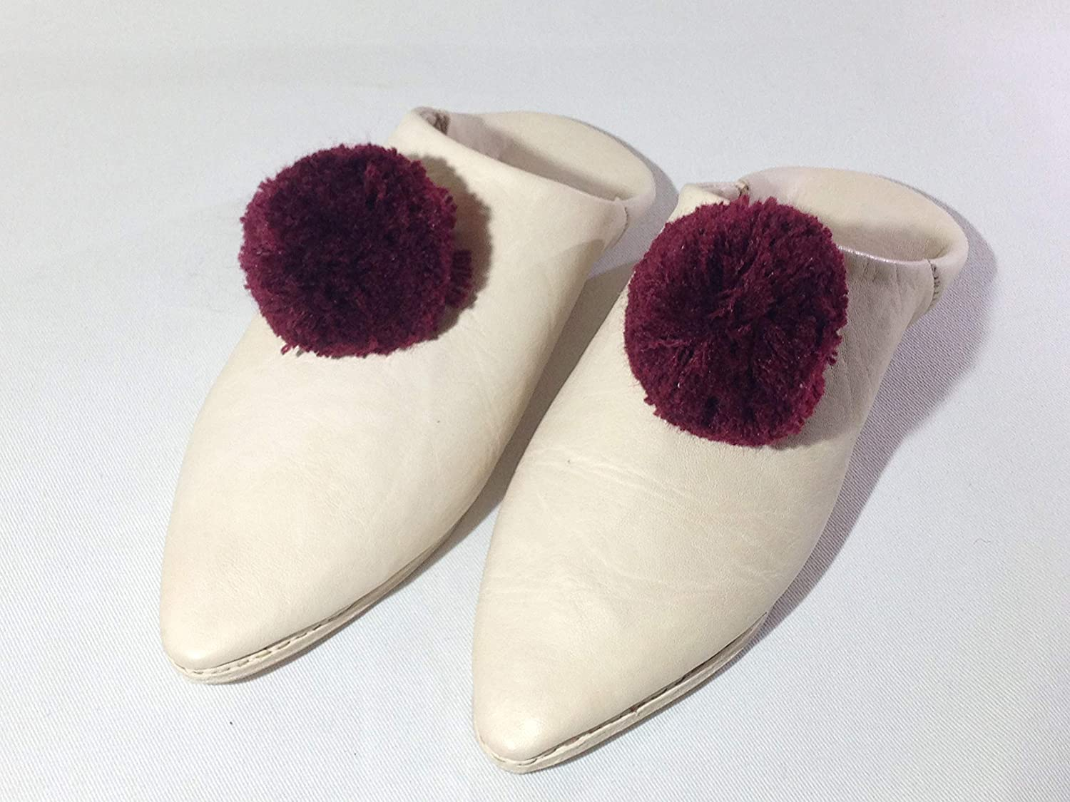 Handmade Baboush For Home and Outside For Women Slipper Withe a heel,Leather shoes slippers babouche Leather slippers