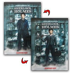 Robert Downey 3d Lenticular Movie Poster Sherlock Holmes Rare 12 X 16 Inches