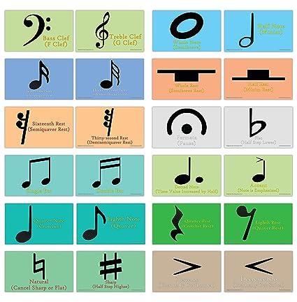 Amazon com: Creanoso Amazing Music Symbols Learning Cards