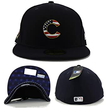 79b957a2d3f093 New Era Chicago Cubs Navy 4TH of July Cap 59fifty 5950 Fitted MLB Limited  Edition