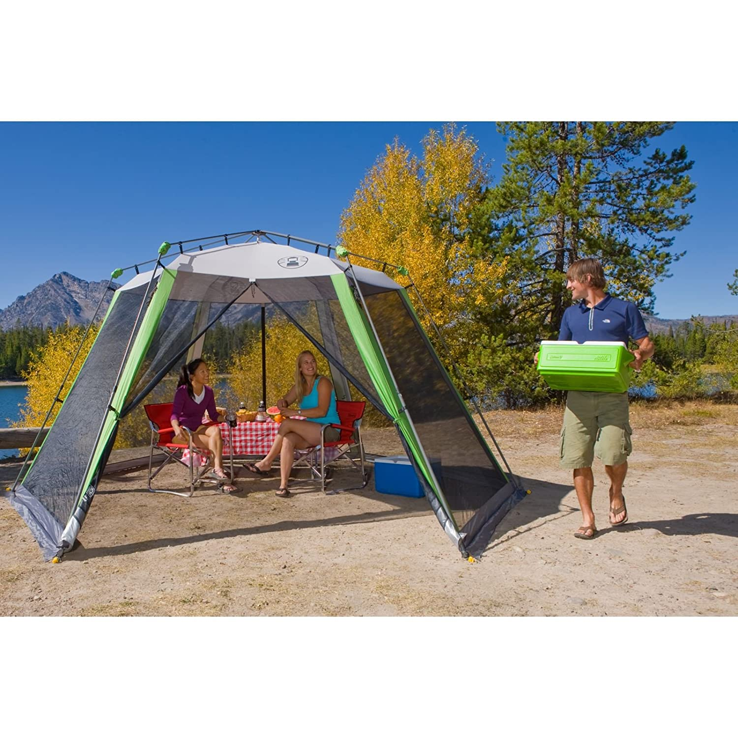 Amazon.com  Coleman Instant Screenhouse 15 x 13 Feet  Screen Houses  Sports u0026 Outdoors  sc 1 st  Amazon.com & Amazon.com : Coleman Instant Screenhouse 15 x 13 Feet : Screen ...