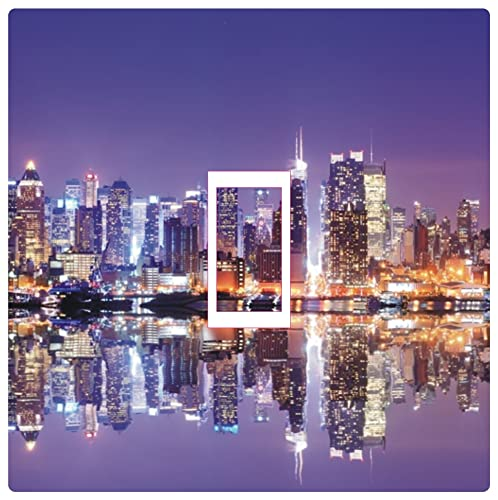 New York Skyline Wallpaper: GIANT PHOTO WALLPAPER NEW YORK CITY BY NIGHT SKYLINE NY
