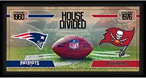 New England Patriots vs. Tampa Bay Buccaneers Framed 10