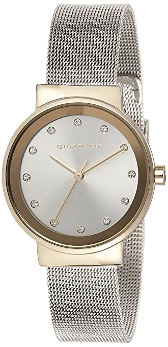 Giordano Analog Silver Dial Women's Watch - A2047-55 Women's Watches at amazon