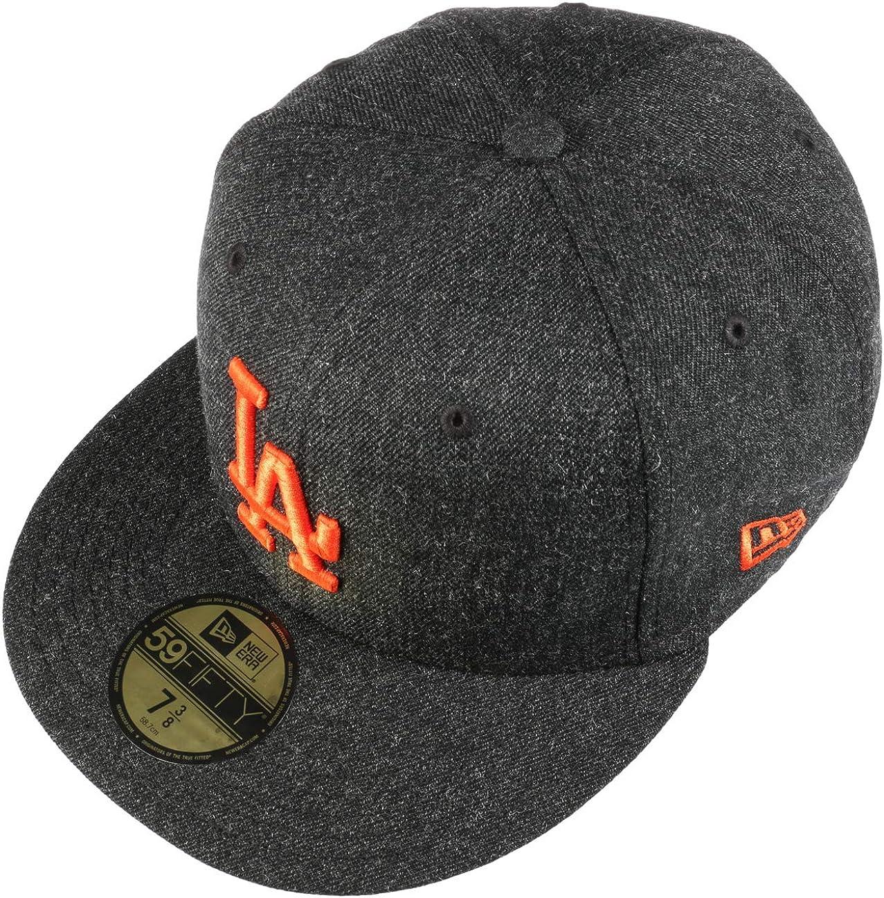 New Era Cappellino 59Fifty Black Base DodgersEra Berretto Baseball MLB cap Cappello Hiphop