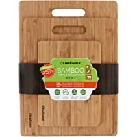 Freshware Bamboo 3-Piece Cutting Boards