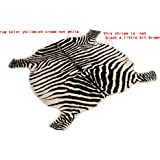 Area Rug Faux Zebra Print Rug 4x4.6 Feet Rug/Mat/Carpets For Home yellowish cream color