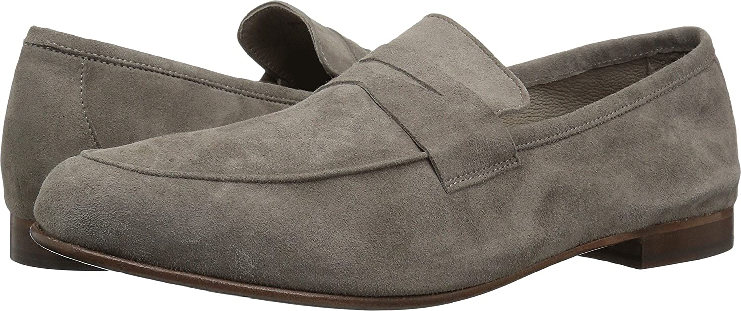Smoke Suede Massimo Matteo Mens Suede Penny Loafer