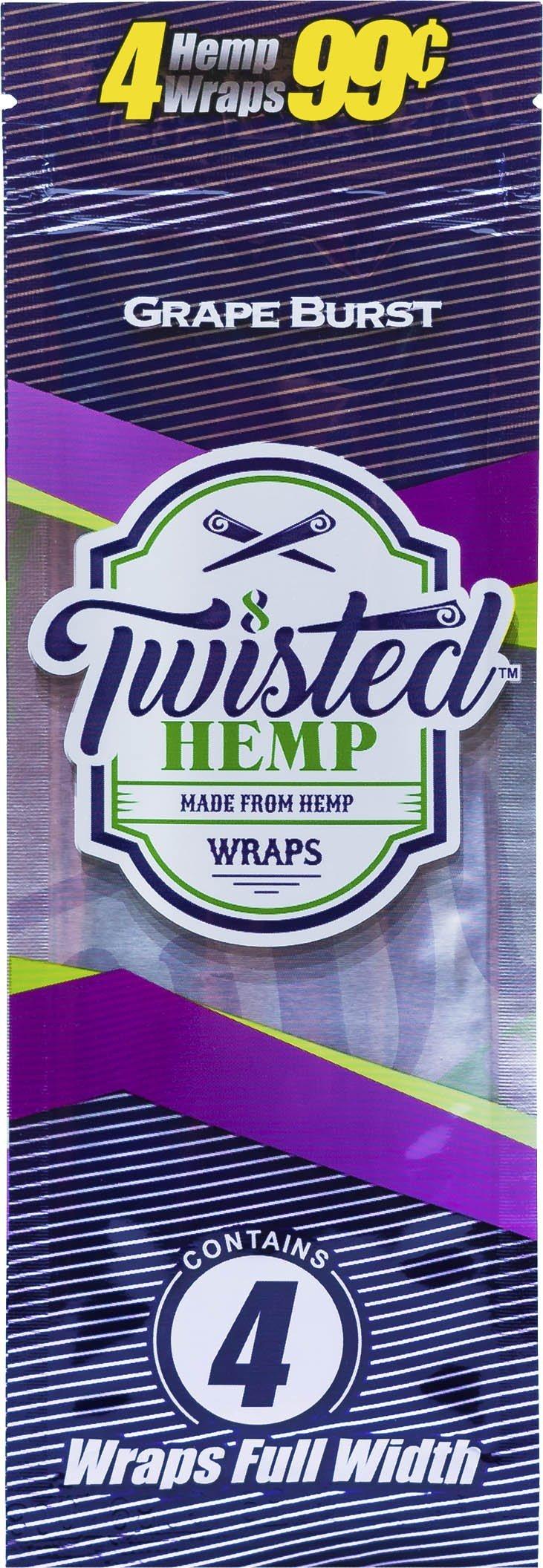 15 pk Twisted Hemp Wrap Grape Burst 4 leaf per pk
