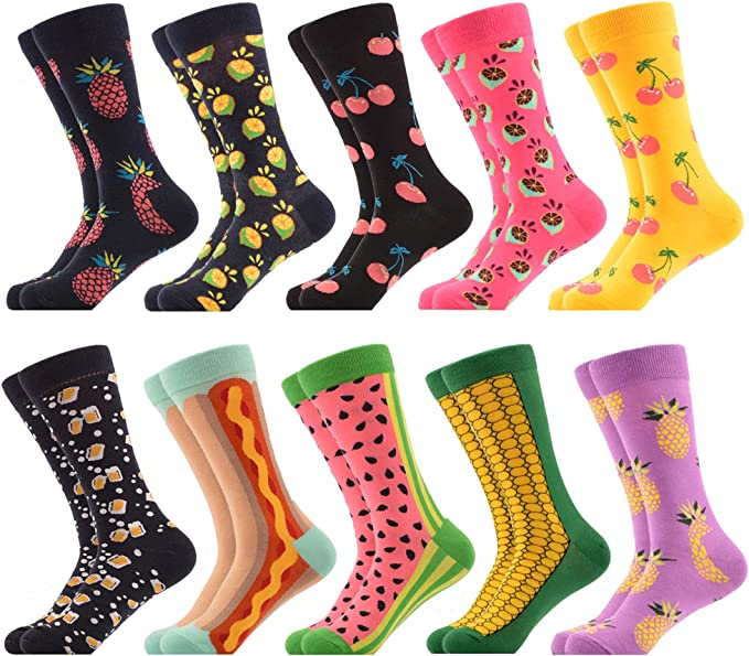 3 PAIRSGift Box of high quality happy funny novelty  Men/' s crew wedding Easter combed cotton socks
